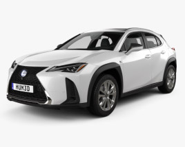 3D model of Lexus UX hybrid F-Sport 2018