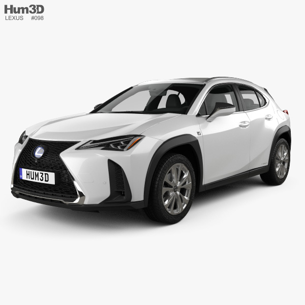 Lexus UX hybrid F-Sport 2018 3D model