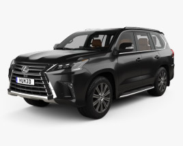 Lexus LX with HQ interior 2016 3D model