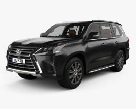 Lexus LX con interior 2016 Modelo 3D