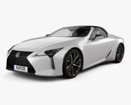 3D model of Lexus LC convertible 2019