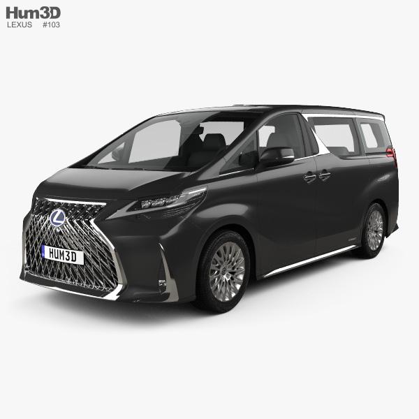 3D model of Lexus LM hybrid 2019