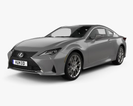 3D model of Lexus RC 2019