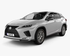 3D model of Lexus RX F Sport 2019
