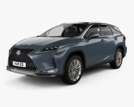 3D model of Lexus RX L hybrid 2019