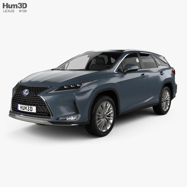 Lexus RX L hybrid 2019 3D model