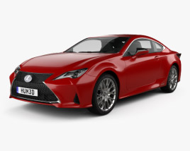 3D model of Lexus RC hybrid 2019