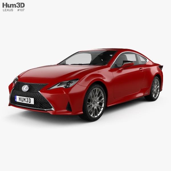 Lexus RC hybrid 2019 3D model