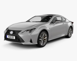 3D model of Lexus RC hybrid F-sport 2018