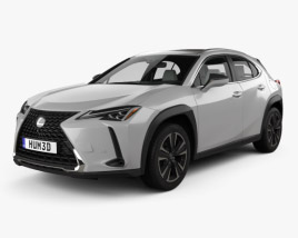 3D model of Lexus UX with HQ interior 2018