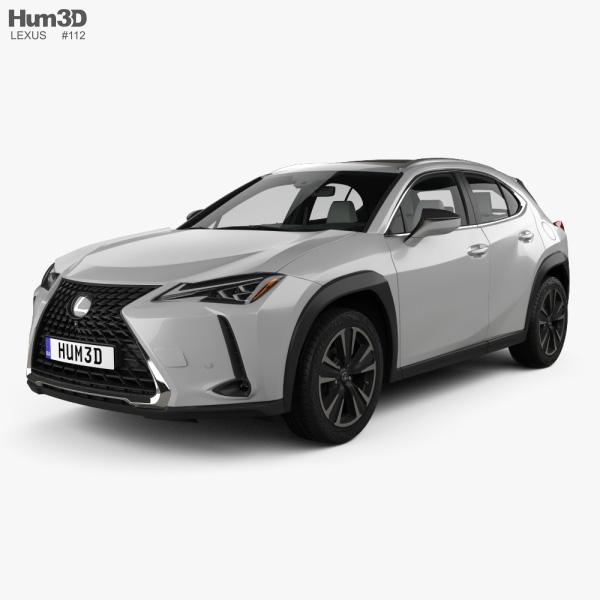 Lexus UX with HQ interior 2018 3D model