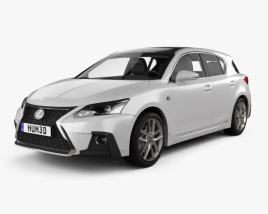 3D model of Lexus CT F-sport 2017