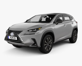 3D model of Lexus NX US-spec hybrid 2020