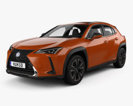 3D model of Lexus UX hybrid 2018