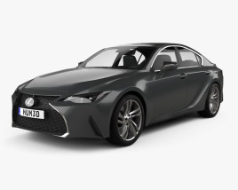 3D model of Lexus IS 2021