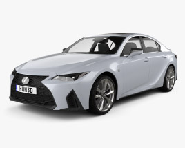 3D model of Lexus IS F Sport 2021
