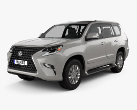 3D model of Lexus GX US-spec 2020