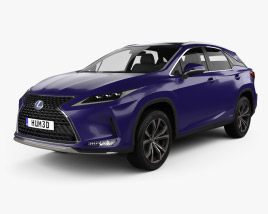 3D model of Lexus RX hybrid Executive 2020