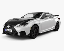 3D model of Lexus RC F-Track Edition US-spec 2020