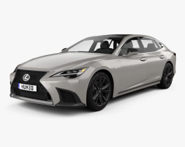3D model of Lexus LS F-Sport 2021