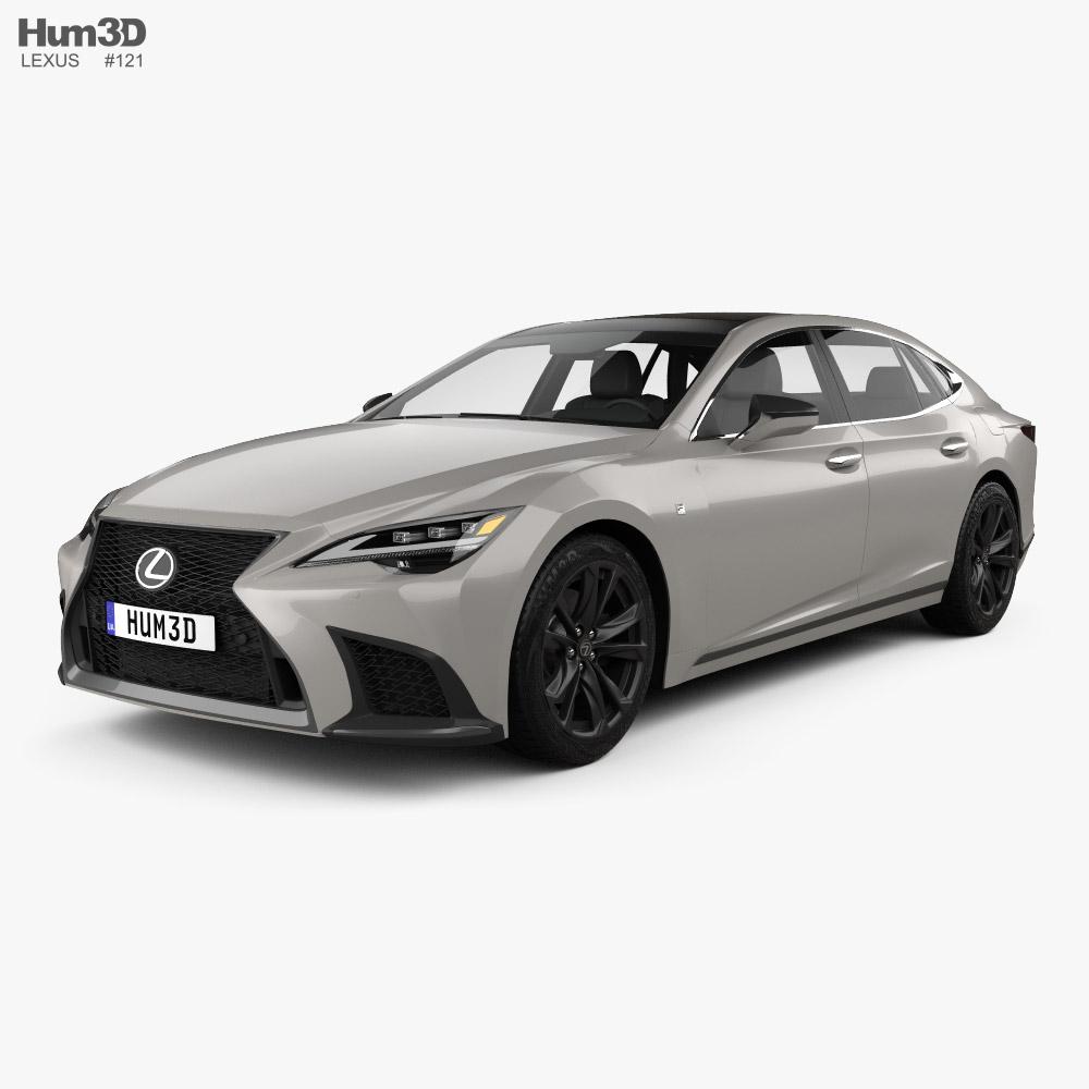 Lexus LS F-Sport 2021 3D model