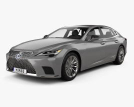 3D model of Lexus LS hybrid 2021