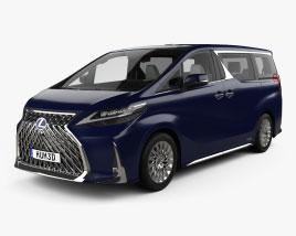 Lexus LM hybrid with HQ interior 2019 3D model