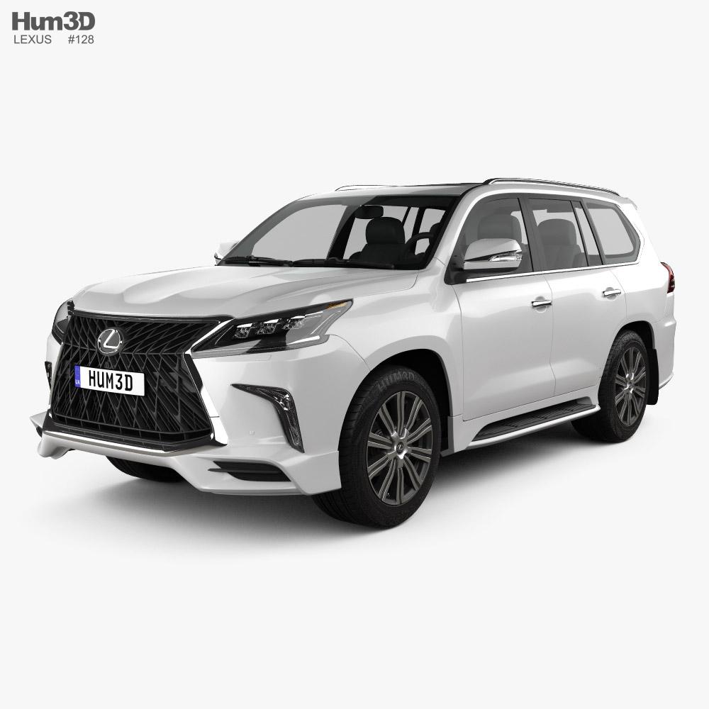 Lexus LX Sport Package US-spec 2019 3D模型