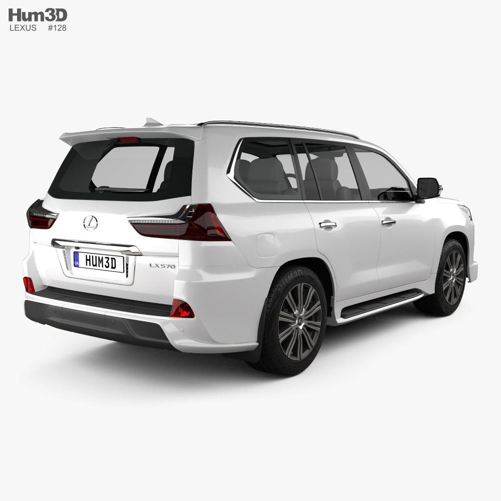 Lexus LX Sport Package US-spec 2019 3d model back view