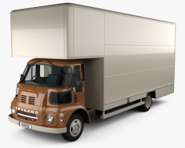 3D model of Leyland FG Box Truck 1968