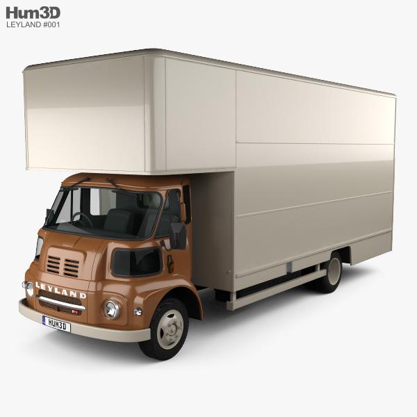 Leyland FG Box Truck 1968 3D model