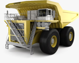 3D model of Liebherr T 282B Dump Truck 2012