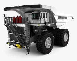 3D model of Liebherr T 264 Dump Truck 2012