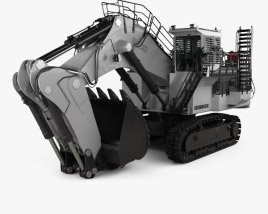 3D model of Liebherr R9400 2018