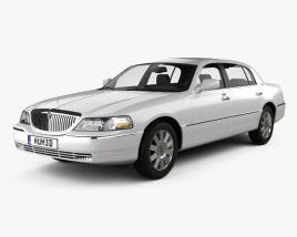 3D model of Lincoln Town Car L 2011