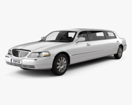3D model of Lincoln Town Car Limousine 2011