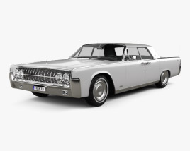 3D model of Lincoln Continental sedan 1962