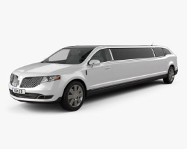 3D model of Lincoln MKT Royale Limousine 2012