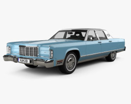 3D model of Lincoln Continental sedan 1975