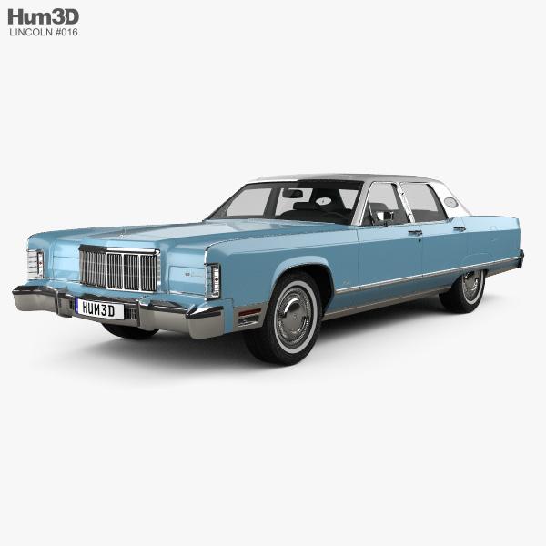 Lincoln Continental sedan 1975 3D model