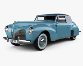 3D model of Lincoln Zephyr Continental Cabriolet 1939