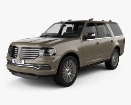 3D model of Lincoln Navigator 2015