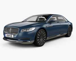 3D model of Lincoln Continental concept 2015