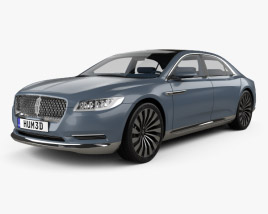 3D model of Lincoln Continental with HQ interior 2015