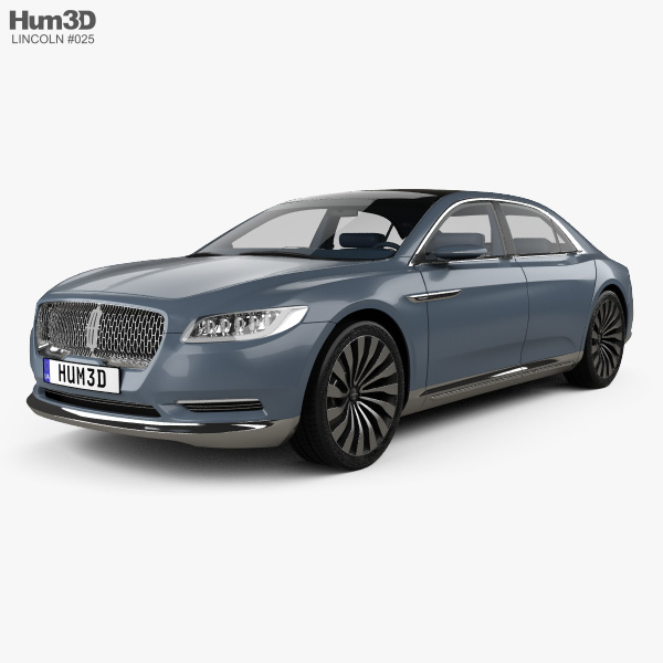 Lincoln Continental with HQ interior 2015 3D model