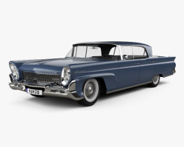 3D model of Lincoln Continental Mark III Landau 1958
