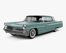 3D model of Lincoln Continental Mark IV 1959
