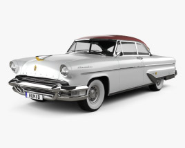 3D model of Lincoln Capri Hardtop Coupe 1955