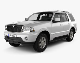3D model of Lincoln Aviator 2002