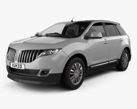 3D model of Lincoln MKX 2011